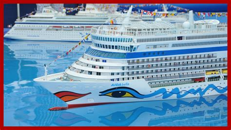 Three RC AIDA Cruise Ships - YouTube