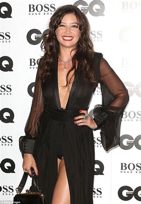 Upskirt Daisy Lowe Lip And Nip Slip For A Slight Wardrobe Malfunction At Gq Awards Hot Pic
