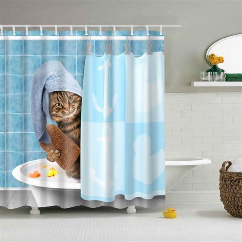 shower curtains funny cat kitten   bath bath