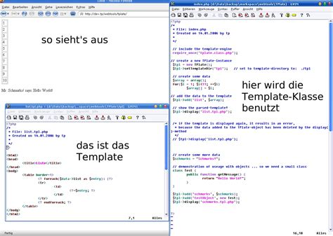 php template engine tp projekt tplate die kleinste php template engine der welt
