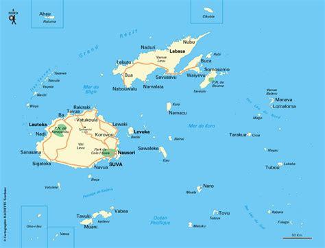 la cuisine du monde carte îles fidji plan îles fidji routard com