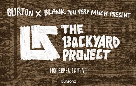 Burton Your Backyard by Burton 2015 Backyard Collection Snowboard Design Contest