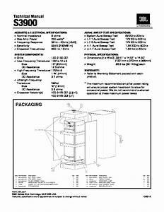 Jbl S 3900 Service Manual  U2014 View Online Or Download Repair