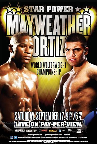 Ortiz Mayweather Victor Poster Floyd Fight Official