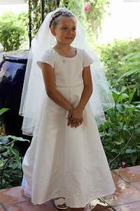 refashioning moms wedding gown into a first communion With mom s wedding dress