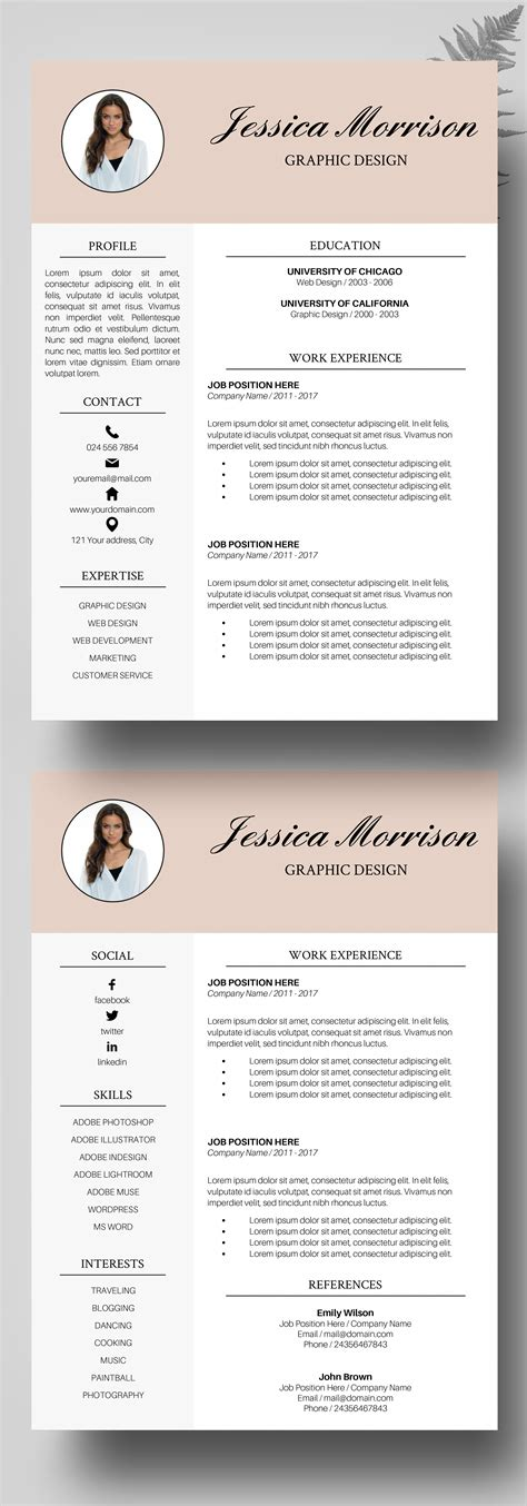 Cv Layout Template Free by Photo Resume Template Resume Instant Cv