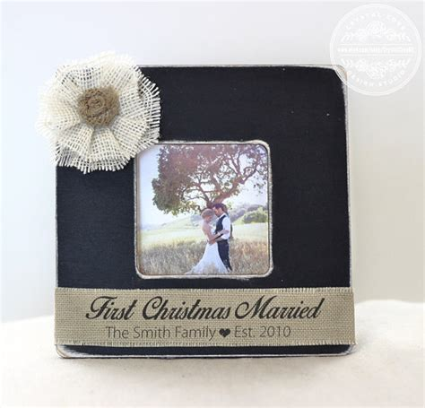 first christmas married newlywed gift wedding personalized