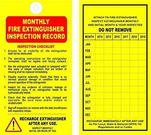 template fire extinguisher inspection tag template With fire extinguisher inspection tag template