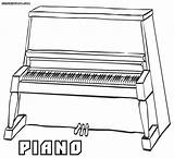 Piano Coloring sketch template