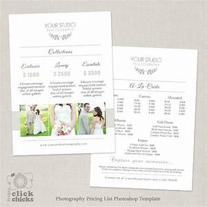 wedding photography pricing list template photography With wedding photography names