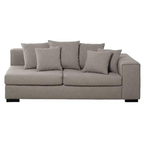 accoudoir de canapé accoudoir droit de canapé 3 places modulable en mastic