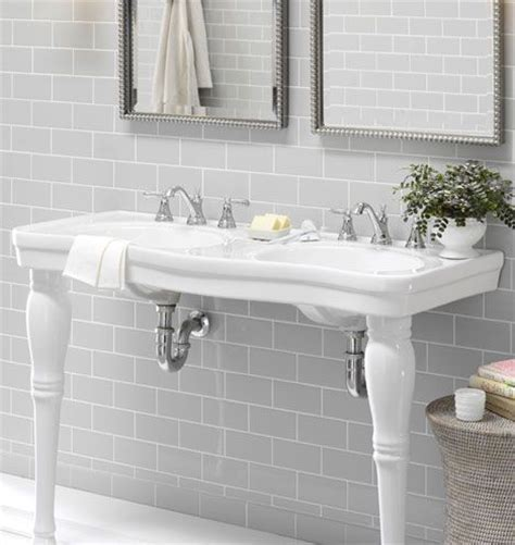 Victorian Pedestal Double Sink Console  Porcelain   just