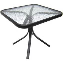 square outdoor glass top side table walmart com