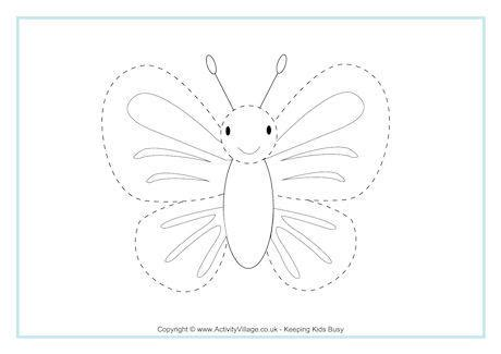 butterfly tracing page