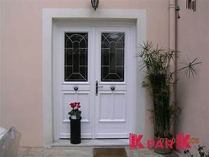 Porte D Entrée Blanche : grande porte d 39 entr e vitr e blanche ambiance en pvc pour ~ Melissatoandfro.com Idées de Décoration