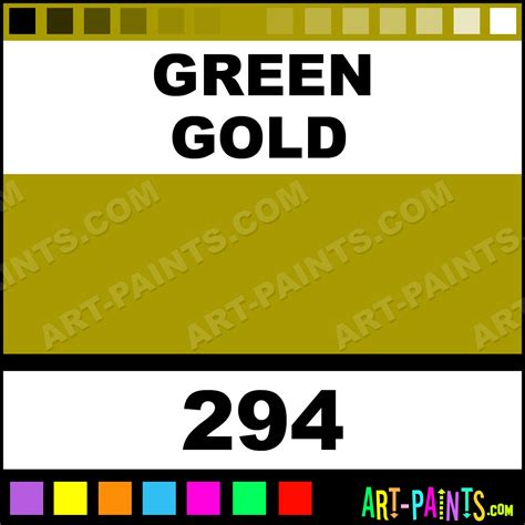 green gold galeria acrylic paints  green gold paint