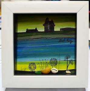 Shetland Jewellery Northern Lights The Scalloway Castle Original Painting By Scalloway