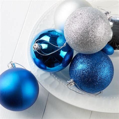 blue and silver christmas ball ornaments christmas