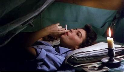 Ava Gardner Smoking 1950s Giphy Mogambo Gifs