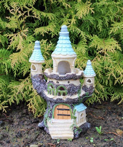 deco garden ornaments solar powered light decorative secret garden ornament castle tree house ebay
