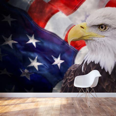 american bald eagle wall mural