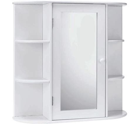 Mirrored Bathroom Cabinet With Shelves by Buy Home Mirrored Bathroom Cabinet With Shelves White At
