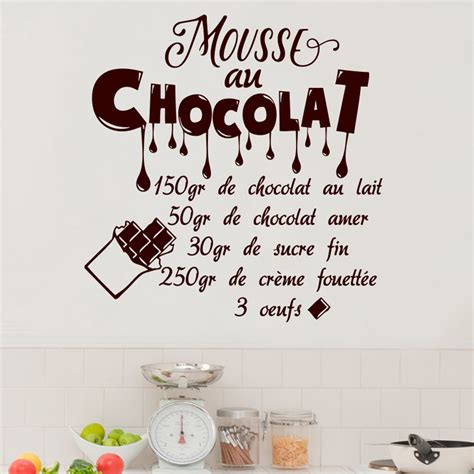 citation pour cuisine sticker citation recette mouse au chocolat 150 gr