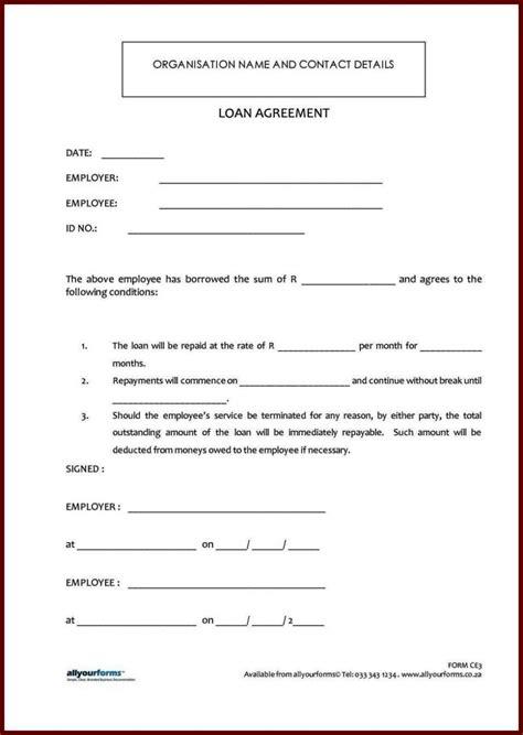 standard loan agreement template  sampletemplatess