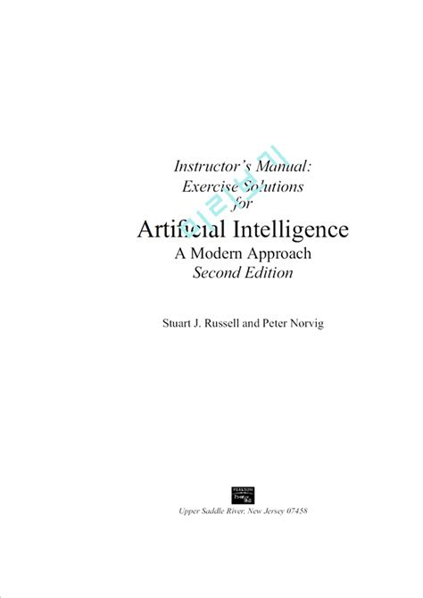 Artificial Intelligence A Modern Approach (인공지능) 2판 솔루션