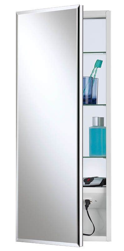 medicine cabinet with outlet nutone 704309x