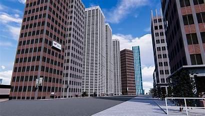 Exterior 3d Buildings Office Skyscrapers 3dsmax