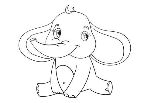 Baby Olifant Met Slurf Omhoog Kleurplaat kleurplaat olifant 42 leuke kleurplaten olifanten
