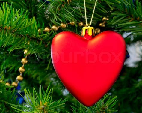 The Christmas-tree Decoration In The Form Of Red Heart Fireplace Facade Diy In The Kitchen Flue Gas Pyromaster Electric Tall Wood Burning Outdoor Kits Corner Stone Ideas Indoor Fake