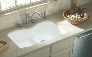 kohler white kitchen faucet kohler k 6626 6u 0 langlade smart divide undercounter