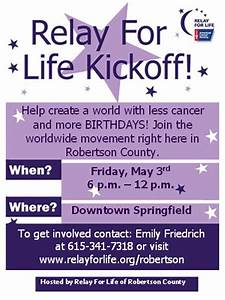 relay for life kickoff may 3 2013 With relay for life flyer template