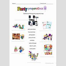 Party Prepations Worksheet  Free Esl Printable Worksheets Made By Teachers