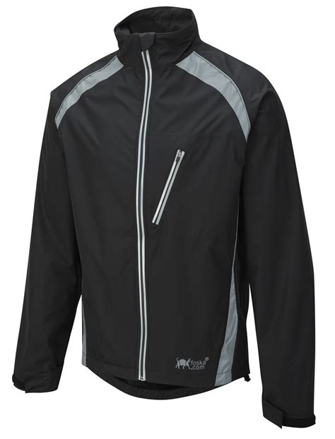 Oska Hi Vis Waterproof Cycling Jacket Black Foska Com