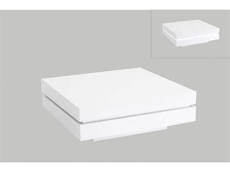 meuble de cuisine laqué table basse carrée lyess mdf laqué leds blanc ou noir