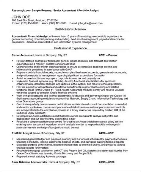 outstanding accountant resume sample  junior  senior