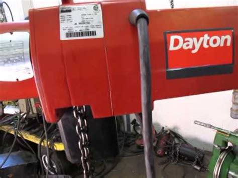 dayton  ton electric chain hoist manual engine hoist supply