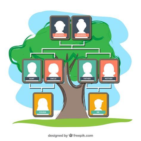 farbige stammbaum vorlage  der kostenlosen vektor