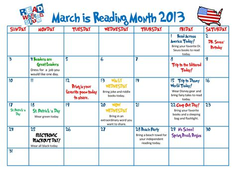 celebrate the of reading all month scholastic 629 | readingmonthcalendar