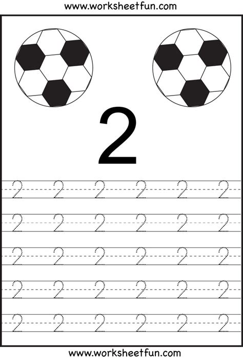 number tracing 1 10 ten worksheets printable