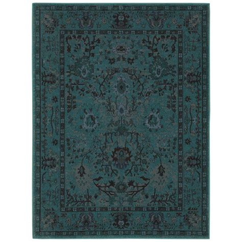 area rug teal home decorators collection overdye teal 7 ft 10 in x 10