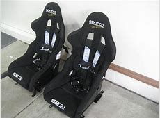 2 Sparco Pro 2000 race seats w C6 sliders, Camlock 5