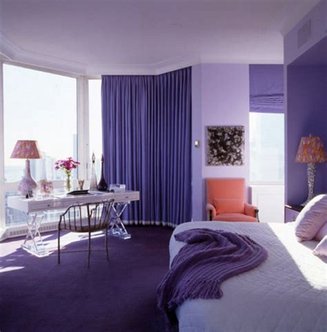 luxurious bedroom designs  purple color