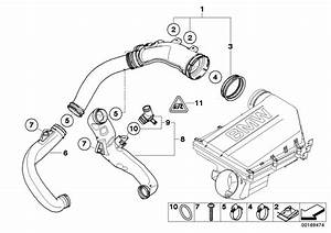 Bmw 740i Filtered Air Pipe  Intake  Fuel  System