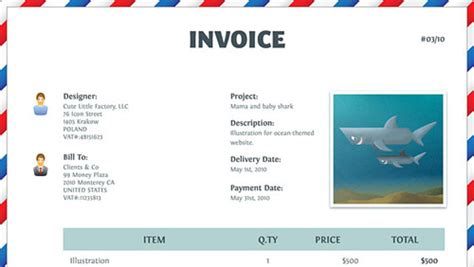Funny Invoice Template Costumepartyrun