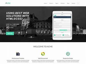 acme free responsive corporate bootstrap template With bootstrap responsive templates free download