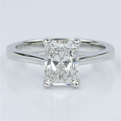 radiant wedding rings petite cathedral radiant solitaire engagement ring 1 60 ct